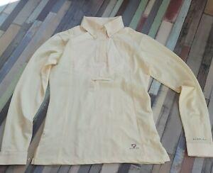 "Aubrion short Sleeve Tie Show Shirt UK 8 10 34"" XS yellow ."
