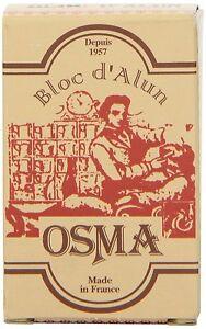 OSMA Alum Bloc | 75g block | Stem Bleeding Nicks | Soothes Irritation | Styptic