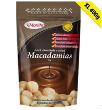 Morlife Dark Chocolate Coated Macadamias 400g | Bulk Buy Chocolate Nuts