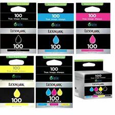 Genuine Lexmark 100 Ink Cartridges For Lexmark Pro205 Pro703 Lot