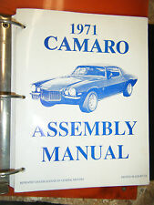 1971 CHEVROLET CAMARO ASSEMBLY MANUAL BY DRAFTING GRAPHIC INSTRUCTIONS