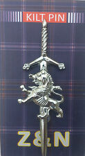 Lion Rampant Scottish Highland Sporran Kilt Pin