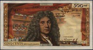 500 NOUVEAUX FRANCS MOLIERE - 5.9.1963 - Billet de banque français (TTB+)