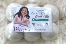 PURE White 6 PACK XL Shep's Wool Dryer Balls- Natural Laundry Softener