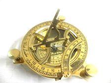"4"" Nautical Maritime~ West London ~ Brass Sundial Compass Nautical Decor"