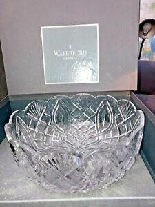 "Lg 10"" mint Waterford crystal Heritage Artisan Craftsman BOWL IRELAND Box Eire"