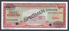 Dominican Republic 1000 Pesos 1976 P115bs1 Specimen TDLR Uncirculated