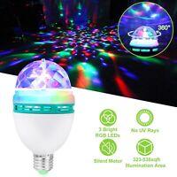 E27 3W Colorful Auto Rotating RGB LED Bulb Party Light Stage DJ Ball Dance Lamp
