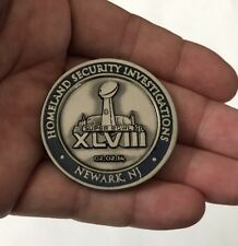 SUPER BOWL XLVIII 48 NEW JERSEY U.S. HOMELAND SECURITY POLICE CHALLENGE COIN NFL