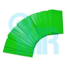 100pcs 18650 PVC Heat Shrink Wraps (Pre-cut) - Green