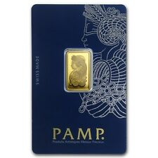 5 GRAM ~ PURE GOLD BAR ~ PAMP SUISSE ~ FORTUNA ~ *NEW VERSION* ~ ASSAY ~ $248.88