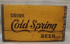New ListingVintage Cold Spring Beer Wooden Crate Case Brewery