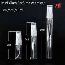 Clear Glass Scent Perfume Pump Spray Bottle Mini Refillable Travel 3/5/10 ml