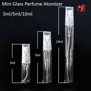 Clear Glass Scent Perfume Pump Spray Bottle Mini Refillable Travel 3/5/10 ml