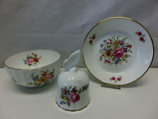 Royal Worcester England Fine Bone China, Glocke + Schale + Teller #2178