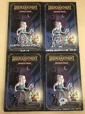 Set 4 Matt Groening Signed Disenchantment Book Sketch Autograph 1/1 SDCC PSA COA