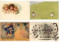 CHILDREN HUMOR Mostly ARTIST SIGNED 100 Vintage Postcards (PART 12.)
