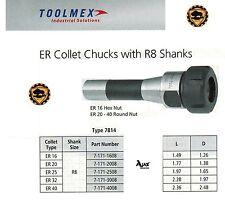 Bison Collet Chuck ER-25 + Wrench Fits R8 Bridgeport
