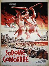 SODOME ET GOMORRHE ! sergio leone affiche cinema  peplum 1961