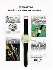 PUBLICITE ADVERTISING 054  1990  ZENITH   collection montres