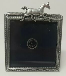 American Sterling Pewter  Equestrian Horse Picture Frame. Tally Ho! Absolutely D