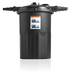 Swell UK Pressure Filter Deluxe + UV Clarifier for Outdoor Garden Koi Fish Pond