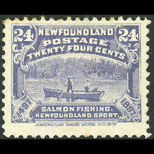 NEWFOUNDLAND 1897 24c Dull Violet Blue. SG 76. Fish. Mint. Perf Tones. (AT751)