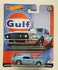 '69 Ford Mustang Boss 302 * 2019 Hot Wheels GULF Series Car Culture G Case