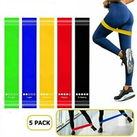 Resistance Loop Bands Exercise Sports Fitness Home Full Set FREE SKIPPING ROPE