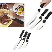 3pcs Angled Straight Spatula Blade Icing Cream Spread Cake Decorating Cutter Set