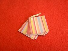 Dolls House Miniature 1:12th Scale Striped Shop Paper Bags
