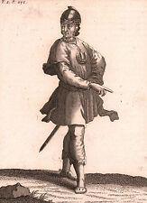Gravure XVIIIe Chevalier Ordre de la Frise Orde van de Koningskroon Friezen 1714