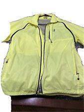 Trek / Bontrager Men's Convertable Windshell Jacket Bright Yellow Size L