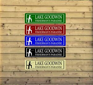 Personalized Lake House Metal Sign Custom Vacation Home Plaque fishing cabin L20