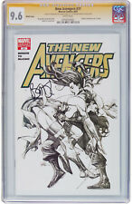 The New Avengers #31 Sketch Cover CGC 9.6 NM+ SS Signature Brian Bendis