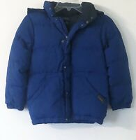 Boys Polo Ralph Lauren Down Puffer Coat/Jacket Hooded Youth Small (8) Navy Blue