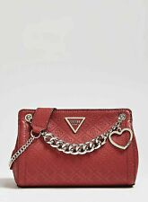 GUESS Red Logo Small Crossbody Bag, Women's Shoulder Chain Handbag, New With Tag