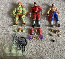 S.H. Figuarts Street Fighter Lot (Bison, Vega, Blanka) Pre-Owned Good Condition!