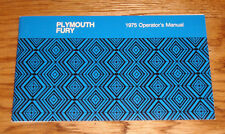 1975 Plymouth Fury Owners Operators Manual 75