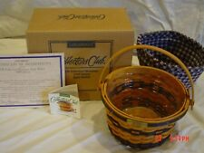 Longaberger Jw Collection Miniature Apple Basket w/ box, liner, protector 1998