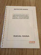 Racal Dana 4700A Digital Multimeter Instruction Manual