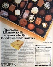 'THORNTONS' Chocolate Selection Advert - 1980 Confectionary Print AD