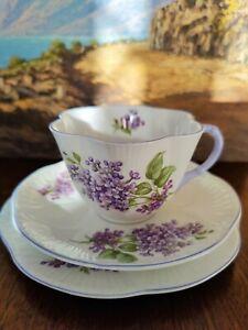 Vintage Shelley Dainty Lilac Time Trio Teacup Set