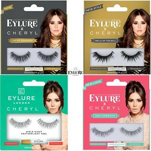 Eylure Cheryl Reusable False Eyelashes +Adhesive Eyelash Glue Featherlight Feel