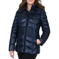 French Connection Women's Quilted Chevron Packable Puffer Jacket