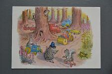 R&L Postcard: Children's, Animals Hedgehog Steam Roller Tractor Molly Brett