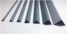 GRAY !! PLASTIC PVC CORNER 90 DEGREE ANGLE TRIM 2.5 METERS VARIOUS SIZES