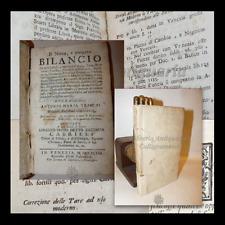 ARITMETICA ECONOMIA: Antonio M. TRIULZI, NUOVO E PURGATO BILANCIO 1748 Venezia