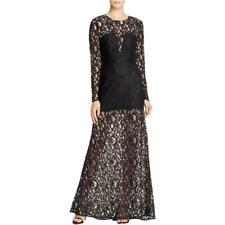 BCBG Max Azria 2740 Womens Veira Black Long Sleeves Lined Formal Dress 0 BHFO