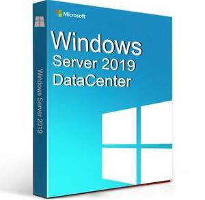 Windows Server 2019 Datacenter Edition with 50 CALs. New, complete, retail.